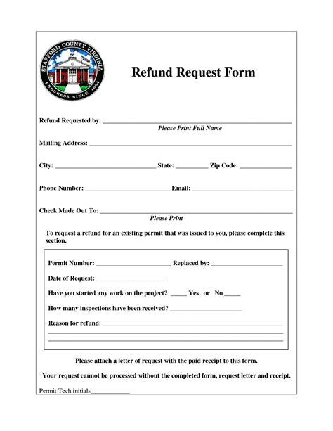 refund form template best photos of reimbursement request form refund request