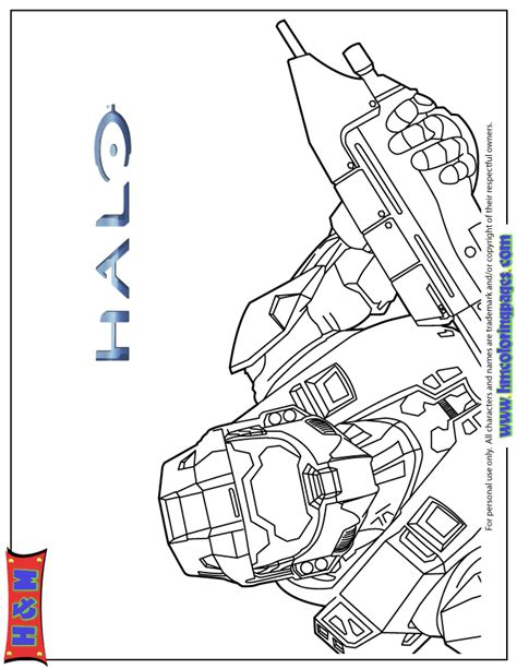 halo 3 video game coloring page h m coloring pages