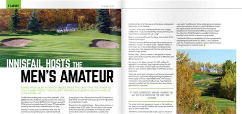 magazine layout courses london alberta golfer magazine innisfail golf club in innisfail