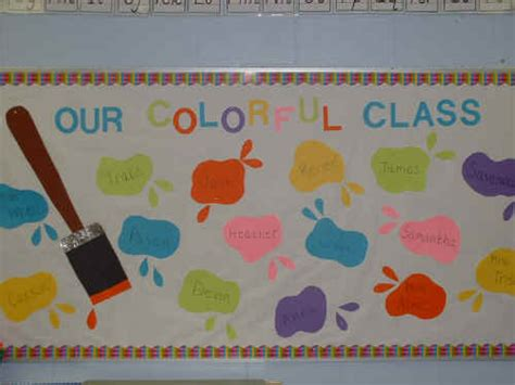 Our Colorful Class Bulletin Board Suggestion