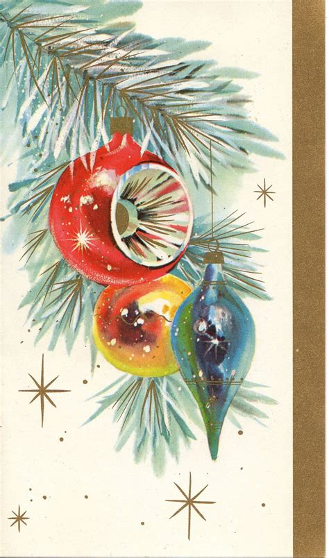 classic christmas tree ornaments vintage card ornament tree