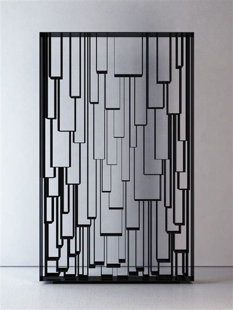 art design genetic screens panel metal grille lapped geometric shapes suggested by