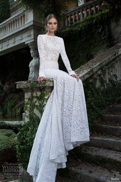 berta bridal winter  long sleeve wedding dresses