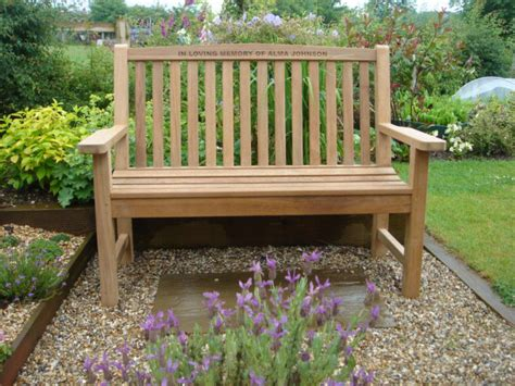 in memory benches memorial benches teak classic bench 1200