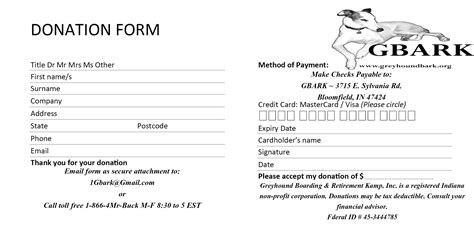 donation template word 6 donation form templates excel pdf formats