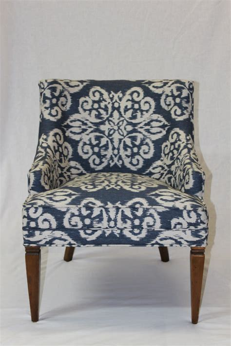 Ikat Arm Chair Design Ideas Vintage 1950 S Arm Chair Ikat Fabric By Atlashome On Etsy