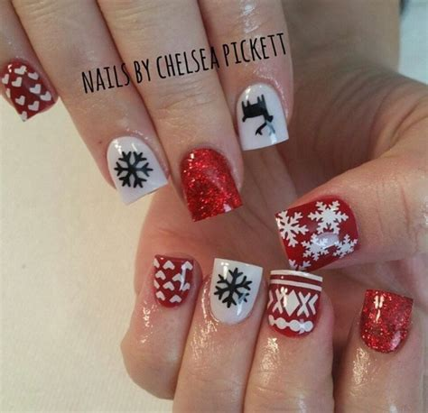 x pattern nails ugly sweater deer design 1 nail decal black dise 241 os de