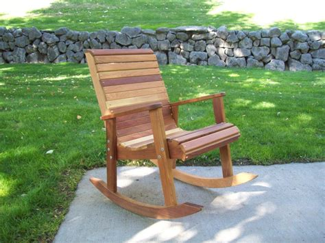 cedar rocking chair plans handbuilt hardwood lawn furniture t l cedar