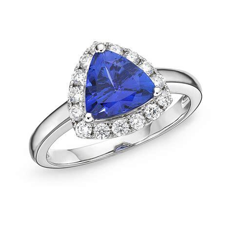 Tanzanite Rings premier 2 00 ct trillion tanzanite halo ring