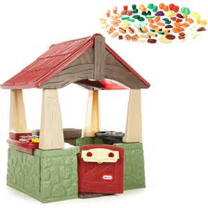 tikes home and garden playhouse tikes home garden playhouse and step2 play food
