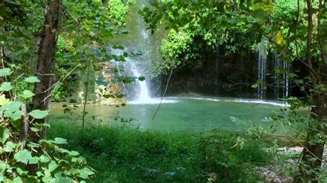 natural spring waterfall  oklahoma youtube