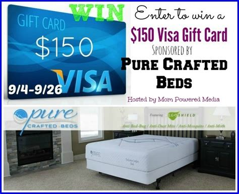 Mail Visa Gift Card - mail4rosey 150 visa gift card giveaway from pure crafted beds
