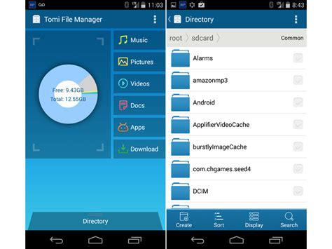 android file manager gestire i file sul proprio dispositivo android in modo semplice grazie a tomi file manager