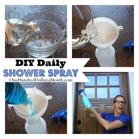 Daily Shower Spray by Diy Daily Shower Spray