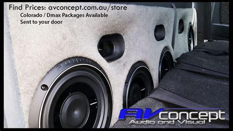 isuzu  max stereo subwoofer solution av concept audio
