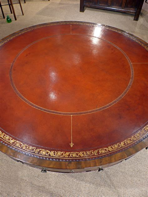 leather top drum table antique drum table regency drum table leather top