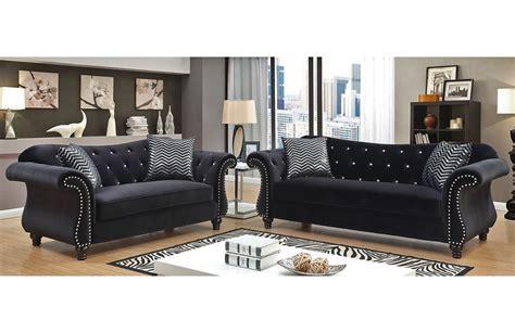 black velvet tufted sofa black velvet sofa set home the honoroak