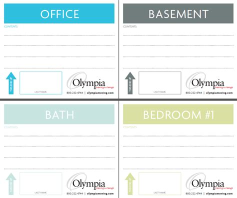 storage label templates free printable moving box labels olympia moving storage