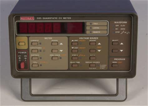 capacitance meter keithley keithley 595 quasistatic c v meter