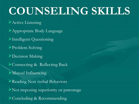 guidance counselor skills employee counselling