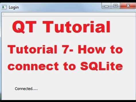 qt tutorial youtube qt c gui tutorial 7 how to connect qt to sqlite youtube