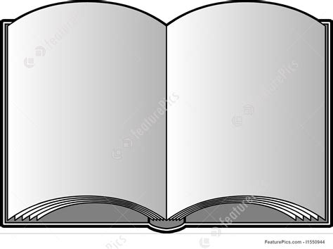 picture of an open book with blank pages vector open book with blank pages