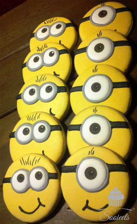 minion cookies minions despicable me and minion cookies on
