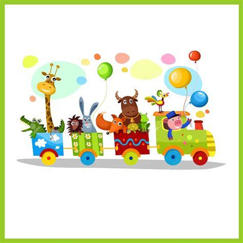 imagenes infantiles tren tusadhesivos vinilo tren infantil animales
