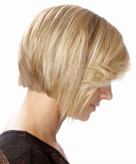 Jagged Hair Cuts Back View | medium straight formal bob hairstyle with side swept bangs