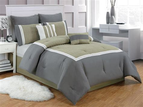 gray and green comforter sets contempo 8pc comforter set 3 sizes
