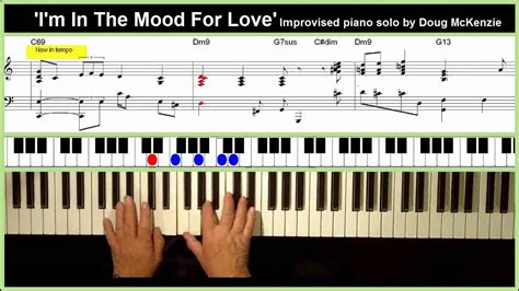 tutorial piano in the mood i m in the mood for love solo jazz piano tutorial