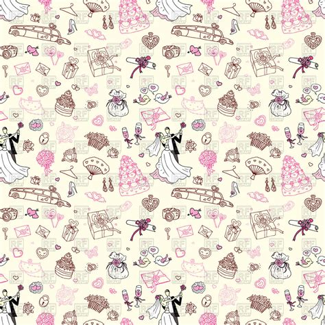 pattern background sketch seamless wedding pattern sketch style royalty free