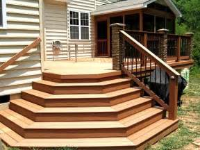 living deck patio stairs