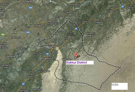 sukkur map satellite map sukkur district