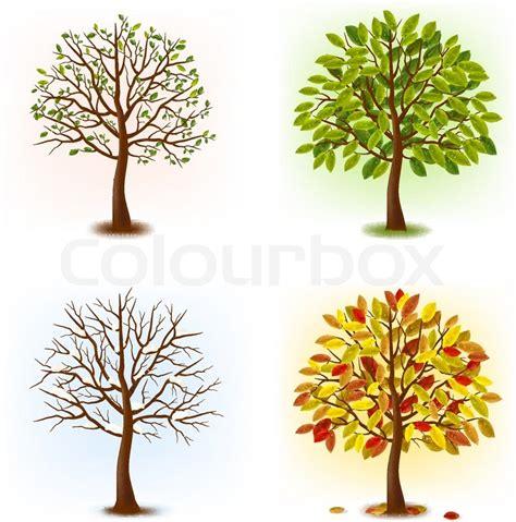 autumn season fall tree stock illustration i2767767 at featurepics four seasons summer autumn stock vector colourbox