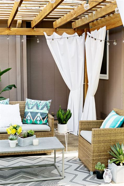 pergola curtain ideas make your own outdoor pergola curtains a beautiful mess