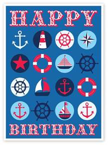 emily kiddy nautical themed birthday card