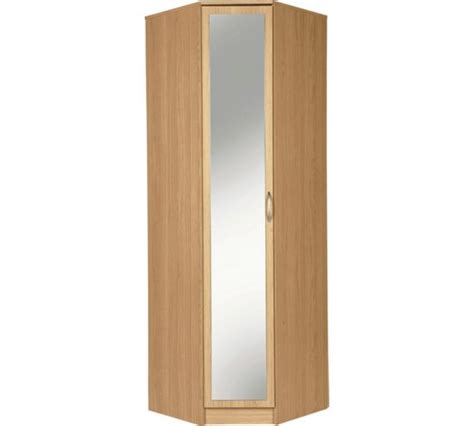 Argos Uk Wardrobes by Buy Collection Cheval 1dr Mirrored Corner Wardrobe Beech