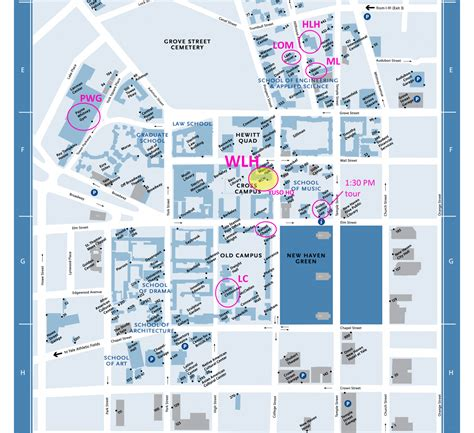 printable yale map cus map yale undergraduate science olympiad