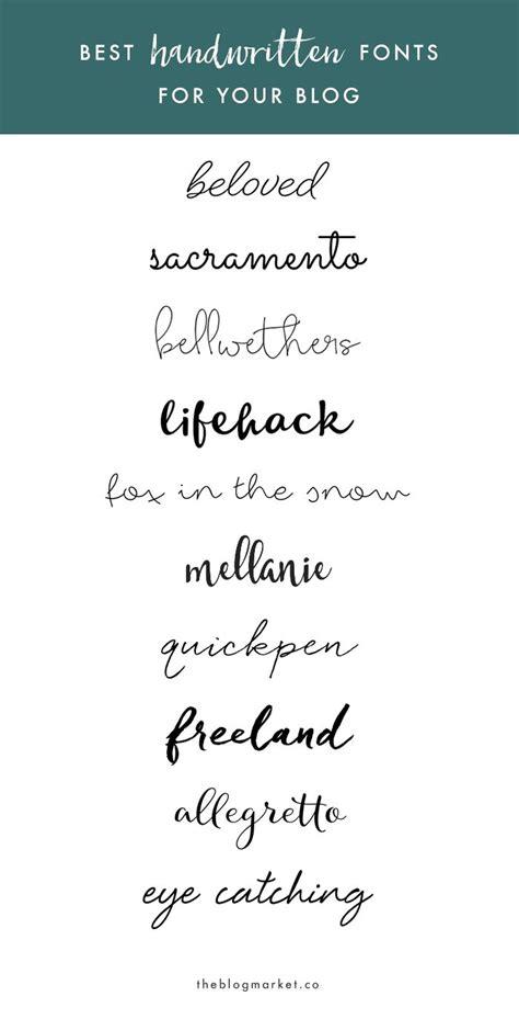 best handwriting fonts 25 best ideas about handwritten fonts on