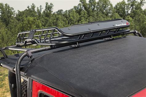 rugged ridge roof rack rugged ridge 11703 03 spartacus roof rack basket with deflector quadratec