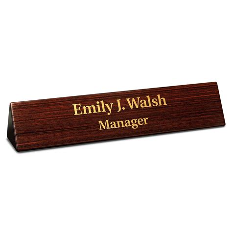 Office Desk Name Plates Desk Accessories Dymondwood Desk Nameplate China Wholesale Desk Accessories Dymondwood Desk