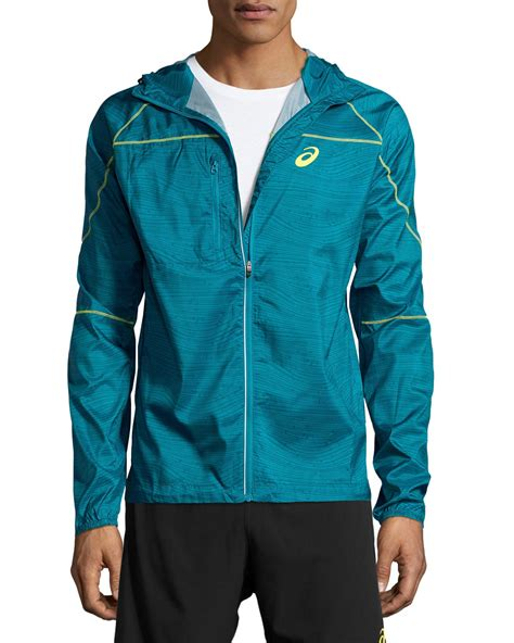 Hoodie Sweater Asics Leo Clothing asics fuji packable jacket in blue for lyst