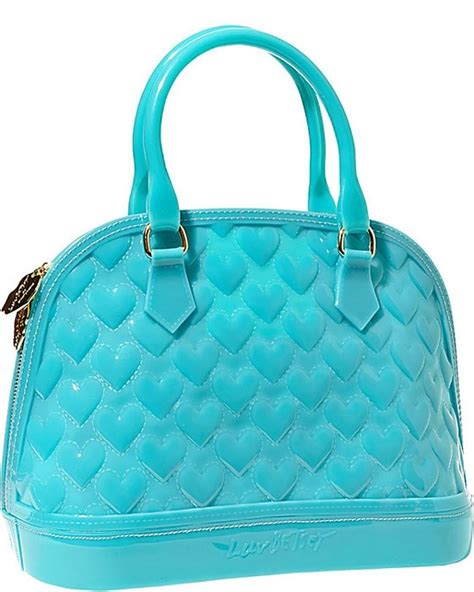 Blue Jelly Bag by Betsey Johnson Betsey Quilted Jelly Embossed
