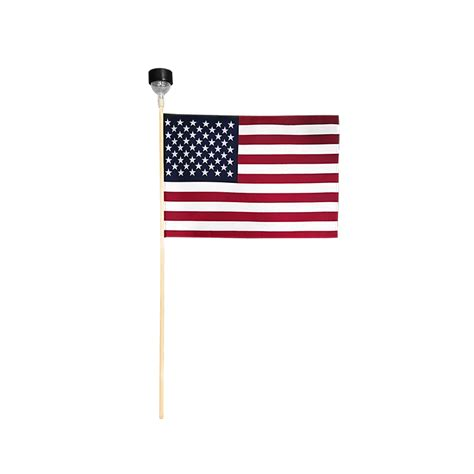 Lighting Flags by American Miniature Flag With Solar Light 12 X 18 In