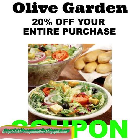 Current Olive Garden Specials by Printable Coupons 2017 Olive Garden Coupons