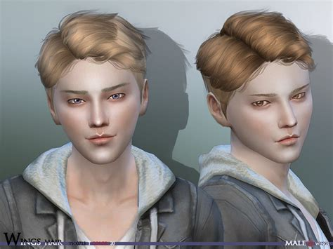 sims 4 cc guys hair wingssims wings sims4 hair tos0713 male v 2