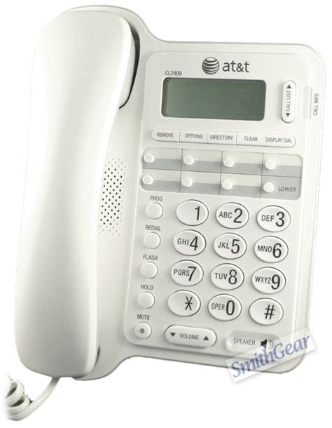 at t cl2909 wall mountable corded phone white