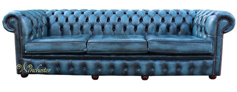 blue chesterfield leather sofa chesterfield sofa brown