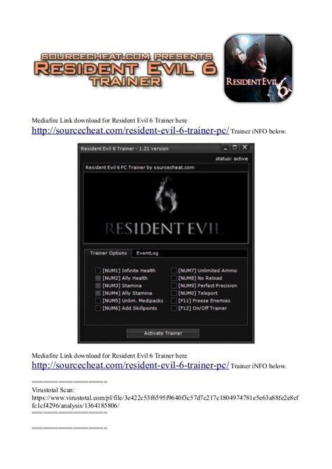 resident evil 5 trainer cheats hack keycrackdownload resident evil 6 trainer pc